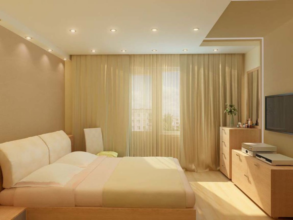 матовый потолок в комнате